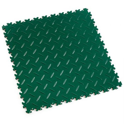 Green Diamond Plate - Motolock Interlocking Floor Tile